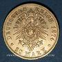 Monnaies Wurtemberg. Charles I (1864-1891). 20 mark 1874 F. (PTL 900‰. 7,96 g)