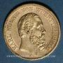 Monnaies Wurtemberg. Charles I (1864-1891). 20 mark 1874F. (PTL 900/1000. 7,96 g)
