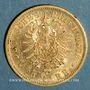 Monnaies Wurtemberg. Charles I (1864-1891). 20 mark 1876 F. (PTL 900‰. 7,96 g)