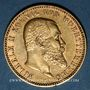 Monnaies Wurtemberg. Guillaume II (1891-1918). 10 mark 1896 F. (PTL 900‰. 3,98 g)