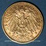 Monnaies Wurtemberg. Guillaume II (1891-1918). 10 mark 1896F. (PTL 900/1000. 3,98 g)
