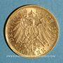 Monnaies Wurtemberg. Guillaume II (1891-1918). 10 mark 1904 F. (PTL 900‰. 3,98 g)