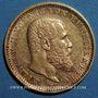 Monnaies Wurtemberg. Guillaume II (1891-1918). 10 mark 1905 F. (PTL 900‰. 3,98 g)