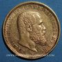 Monnaies Wurtemberg. Guillaume II (1891-1918). 10 mark 1905F. (PTL 900/1000. 3,98 g)