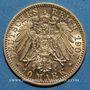 Monnaies Wurtemberg. Guillaume II (1891-1918). 10 mark 1907 F. (PTL 900‰. 3,98 g)
