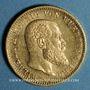 Monnaies Wurtemberg. Guillaume II (1891-1918). 20 mark 1894F. 900 /1000. 7,96 gr