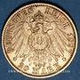 Monnaies Wurtemberg. Guillaume II (1891-1918). 20 mark 1897 F. (PTL 900‰. 7,96 g)