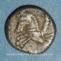 Monnaies Allobroges. Région du Dauphiné. Denier à l'hippocampe, 1er s. av. J-C