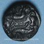 Monnaies Ambiani (région d'Amiens) (vers 60 - 30/25 av. J-C). Bronze aux sangliers affrontés