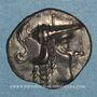 Monnaies Aulerques Cénomans. Minimi d'argent à la tête de Pallas, vers 80-50 av. J-C