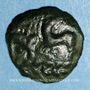 Monnaies Aulerques Eburovices. Région d'Evreux. Bronze  aux animaux affrontés, 2e moitié du 1er s. av. J.-C