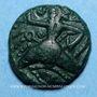 Monnaies Bellovaques. Région de Beauvais. Bronze au personnage courant, vers 60/35 av. J-C