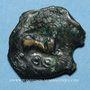 Monnaies Bituriges Cubi. Région de Bourges. Bronze au loup, 1er siècle av. J-C