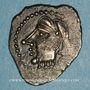 Monnaies Bituriges Cubi. Région de Bourges. Denier au glaive et au pentagramme. 1er siècle avant J-C.