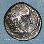 Monnaies Bituriges Cubi. Région de Bourges. Drachme au cavalier et à la main. 1er siècle avant J-C.