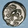 Monnaies Carnutes (région de Chartres) (2e moitié du 1er siècle av. J-C). Bronze dit à l'aigle et au serpent