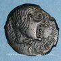 Monnaies Carnutes. Région de Chartres. Bronze à l'aigle et au lézard TO / VRIX,  1er siècle av. J-C