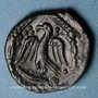 Monnaies Carnutes. Région de Chartres - Pixtilos. Bronze au temple, classe VIII, vers 40-30 av. J-C