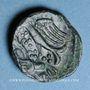 Monnaies Carnutes (région de Chartres) - Pixtilos (vers 40-30 av. J-C). Bronze à l'oiseau et à la main