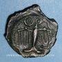 Monnaies Carnutes. Région de Chartres. Potin au profil géométrique, 1er s. av J-C. DT 2581 cet exemplaire !