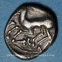 Monnaies Cavares. Avignon. Drachme au bouquetin de la classe II,  vers 90-75 av. J-C