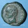Monnaies Celtibérie. Caesaraugusta. Tibère (14-37) monnayage au nom de Sex Aebutius L. Lucretius, bronze