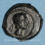 Monnaies Celtibérie. Castulo. Quadrans, fin 2e siècle av. J-C