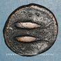 Monnaies Celtibérie. Gadir (Gades). Moitié d'unité de bronze, début du 1er siècle av. J-C