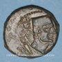 Monnaies Celtibérie. Malaca (Malaga). Monnayage ibéro-punique (1er siècle av. J-C). Bronze