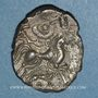 Monnaies Coriosolites. Côtes du Nord. Statère de billon au nez droit. 1ère moitié du 1er siècle av. J-C