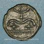 Monnaies Durocasses. Région de Dreux. Potin au type de Bû, vers 80-50 av. J-C