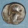 Monnaies Eduens. Bourgogne. Quinaire à la tête casquée, 1er siècle av. J-C