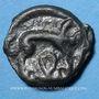 Monnaies Leuques (région de Toul) (2e moitié du 1er siècle av. J-C). Potin, classe Ic var avec sanglier à dr.