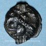 Monnaies Leuques (région de Toul) (2e moitié du 1er siècle av. J-C). Potin de classe Ij