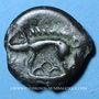 Monnaies Leuques. Région de Toul. Potin classe II, 2e - 1er siècle av. J-C