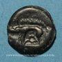 Monnaies Leuques. Région de Toul. Potin, classe II