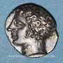 Monnaies Marseille (310-250 av. J-C). Obole à l'Apollon avec favoris