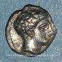 Monnaies Marseille (380-336 av. J-C). Obole à la tête d'Apollon à droite