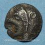 Monnaies Marseille. Obole phocaïque à la tête d'Athéna, 470-460 av. J-C