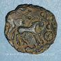 Monnaies Parisii. Région Parisienne.  Bronze au filet, vers 60-30/25 av. J-C