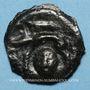 Monnaies Rémi. Région de Reims. Potin à la tête coupée, 2e - 1er siècle av. J-C