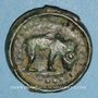 Monnaies Rémi. Région de Reims. Potin au bucrâne, 1er siècle av. J-C. DT 221, cet exemplaire !