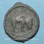 Monnaies Rémi. Région de Reims. Potin au bucrâne, 1er siècle av. J-C