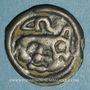 Monnaies Rémi. Région de Reims. Potin au guerrier courant, vers 58-48 av. J-C