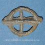 Monnaies Rouelle celte en plomb à quatre rayons. 13,31 x 17,62 mm