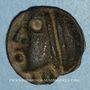 Monnaies Séquanes. Région de Besançon. Potin à la grosse tête, 2e  - 1er siècle av. J-C