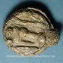 Monnaies Séquanes. Région de Besançon. Potin à la grosse tête en plomb, 3e siècle av. J-C