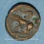 Monnaies Turones. Région de Tours. Potin à la tête diabolique, vers 80-50 av. J-C