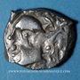 Monnaies Volques Tectosages, drachme à la tête cubiste