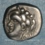 Monnaies Volques Tectosages. Drachme à la tête romanisée, 1er siècle av. J-C